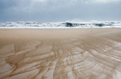Assateague National Wildlife refuge beach. royalty free stock photography