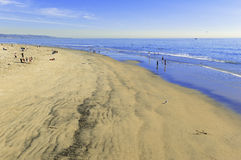 Sand and Surf, Southern California, USA Stock Photos