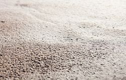 Sand surface after the rain Royalty Free Stock Photos