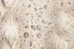 Sand surface after the rain Stock Photo