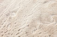 Sand surface after the rain Royalty Free Stock Photography