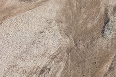 Sand surface after the rain Royalty Free Stock Image