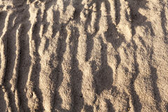 Sand surface after the rain Royalty Free Stock Images