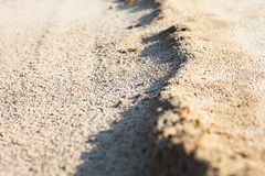 Sand surface with the relief formed by water currents Stock Image