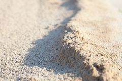 Sand surface with the relief formed by water currents Royalty Free Stock Image