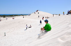 Sand Surfing royalty free stock images