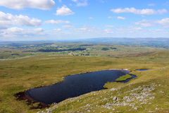 Sand Tarn from Wild Boar Fell, Cumbria Stock Images