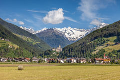 Sand in Taufers with Castle Taufers. South Tyrol, Italy royalty free stock images