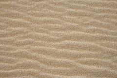 Sand texture. A shot of waves in the sand Royalty Free Stock Image
