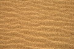 Sand texture. A shot of waves in the sand Royalty Free Stock Images