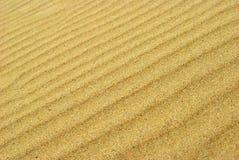 Sand texture. Line textured sand close up Stock Photo