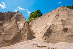 Sand texture background of canyon at grand canyon Kapong. Phang nga, Thailand royalty free stock photos