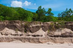 Sand texture background of canyon at grand canyon Kapong. Phang nga, Thailand royalty free stock photography