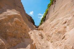 Sand texture background of canyon at grand canyon Kapong. Phang nga, Thailand royalty free stock photo