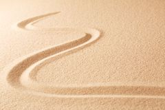 Sand texture background with line pattern royalty free stock photo