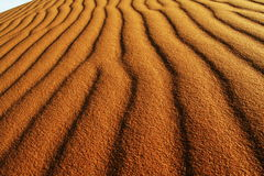 Sand texture in desert Royalty Free Stock Photo