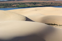 Sand texture at Phan Thiet, Vietnam Royalty Free Stock Photo