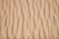 Sand texture with ripples Royalty Free Stock Photos