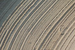 Sand textures. Detailed photo of the sand simulating a desert Royalty Free Stock Photos