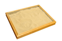 Sand therapy box Stock Photography
