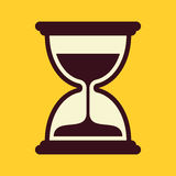 Sand timer. Vector icon on yellow background vector illustration