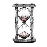 Sand timer vintage pattern black Stock Photography