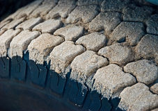 Sand on tire Royalty Free Stock Photos