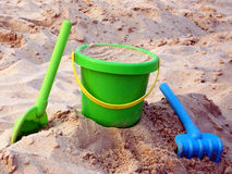 Sand and toys 1 Royalty Free Stock Images