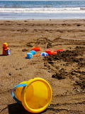 Sand toys beach Royalty Free Stock Images