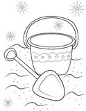 Sand toys coloring page Stock Photo