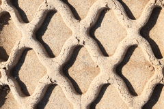 Sand track. Abstract composition for tracks on sand from tire Stock Images