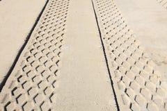 Sand track Royalty Free Stock Photo