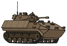Sand track armoured vehicle. Hand drawing of a sand track armoured vehicle - not a real model Royalty Free Stock Photo