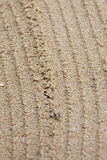Sand track line Royalty Free Stock Image