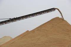 Sand transport dock Royalty Free Stock Image