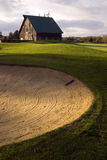 Sand Trap on Rural Country Golf Course Stock Image