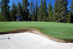 Sand trap Royalty Free Stock Images