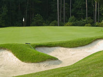 Sand Trap. A sand trap on this beautiful Myrtle Beach, South Carolina golf course Royalty Free Stock Photos