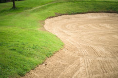 Sand trap Stock Photo