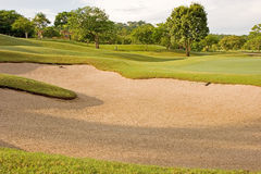 Sand Trap At Tropical Golf Course Royalty Free Stock Image