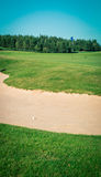 Sand trap on a golf course Royalty Free Stock Photos