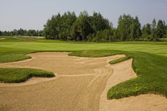 Sand Trap and Greens Royalty Free Stock Photo