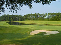 Sand Trap and Pond Royalty Free Stock Photos