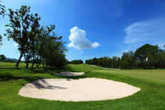 Sand traps Stock Photography
