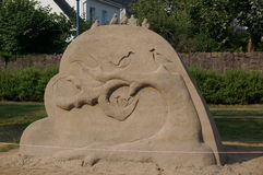 Sand tree sculpture in Kristiansand, Norway Royalty Free Stock Photos