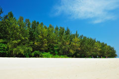 On the sand tropical beach. Andaman sea Stock Photo