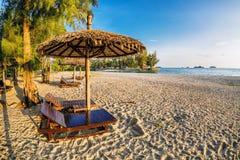 On the sand tropical beach Stock Photo