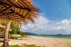 On the sand tropical beach Royalty Free Stock Photos