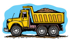 Sand truck Stock Photo