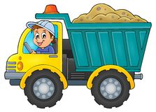 Sand truck theme image 1 Royalty Free Stock Image